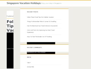 singaporevacationsholidays.com screenshot