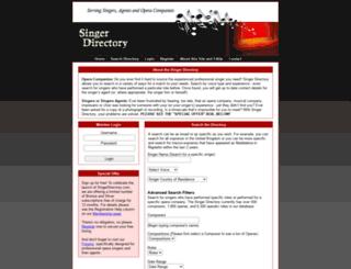 singerdirectory.com screenshot