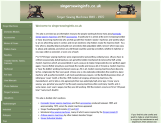 singersewinginfo.co.uk screenshot