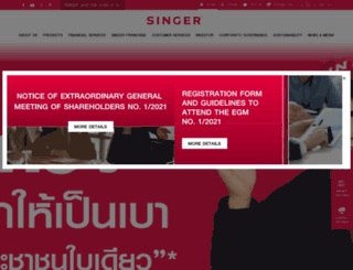 singerthai.co.th screenshot