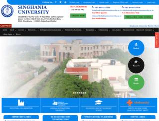 singhaniauniversity.ac.in screenshot