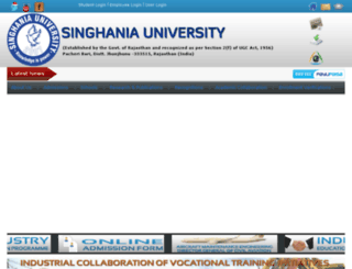singhaniauniversity.in.net screenshot