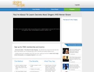 singing-made-simple.com screenshot