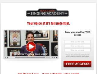 singing.kajabi.com screenshot