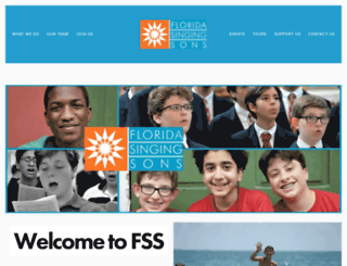 singingsons.org screenshot