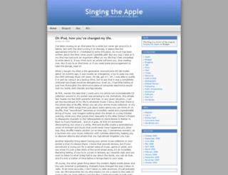 singingtheapple.wordpress.com screenshot