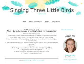 singingthreelittlebirds.blogspot.com screenshot