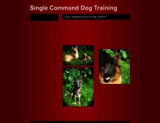 singlecommanddogtraining.com screenshot