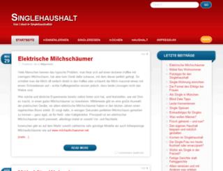 singlehaushalt.net screenshot