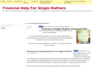 singlemothersfinancialhelp.com screenshot