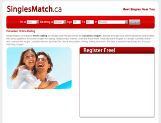 singlesmatch.ca screenshot