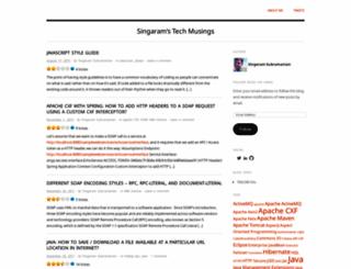 singztechmusings.wordpress.com screenshot