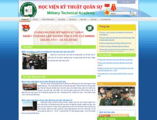 sinhvien.mta.edu.vn screenshot
