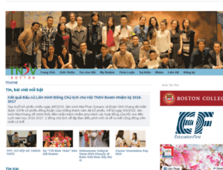sinhvienboston.org screenshot
