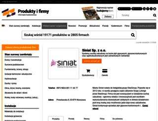 siniat.informatorbudownictwa.pl screenshot