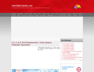 sinifogretmenim.com screenshot