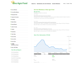 sinoagrofood.investorroom.com screenshot