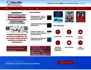 sinpro-rio.org.br screenshot