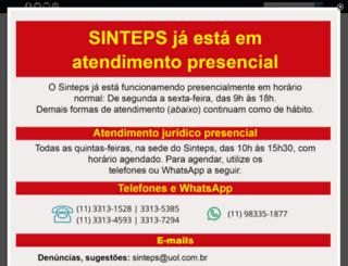 sinteps.org.br screenshot