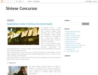 sinteseconcursos.com.br screenshot