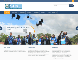 sinu.edu.sb screenshot