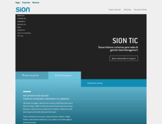 sion.com screenshot