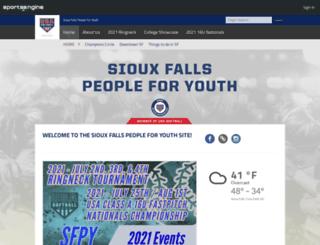 siouxfallsfastpitch.com screenshot