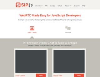 sipjs.com screenshot