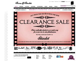 sirensandstarlets.co.uk screenshot
