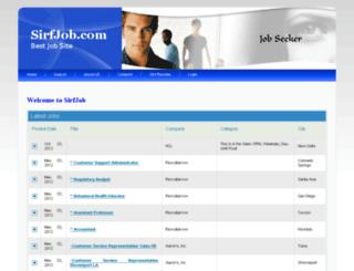 sirfjob.com screenshot