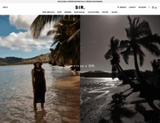 sirthelabel.com screenshot