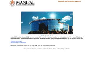 sis.manipal.edu screenshot