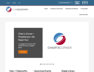 sis.siggraph.org screenshot