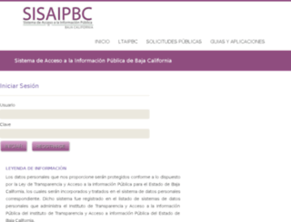 sisaipbc.org.mx screenshot