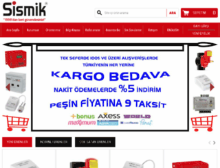 sismik.com.tr screenshot