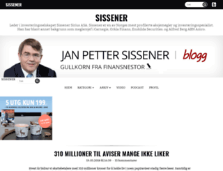 sissener.blogg.no screenshot