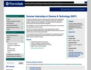 sist.fnal.gov screenshot