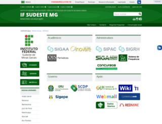 sistemas.ifsudestemg.edu.br screenshot