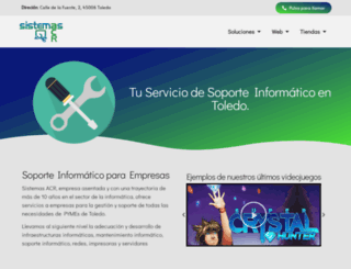 sistemasacr.com screenshot