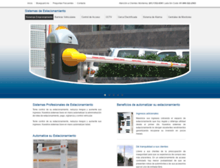 sistemasdeestacionamiento.com screenshot