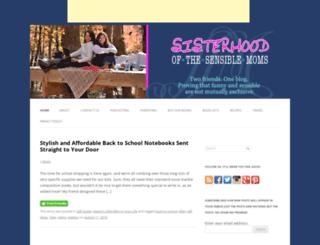 sisterhoodofthesensiblemoms.com screenshot