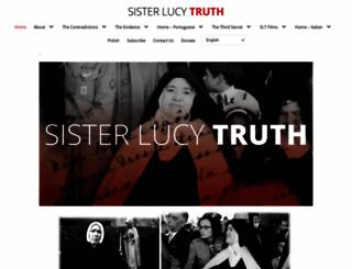 sisterlucyimposter.org screenshot