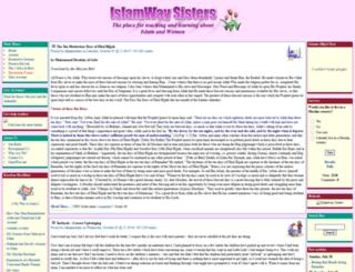 sisters.islamway.com screenshot