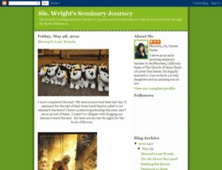siswrightsseminaryjourney.blogspot.com screenshot