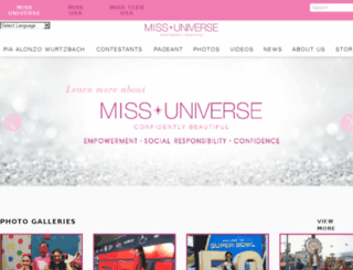 site.missuniverse.com screenshot