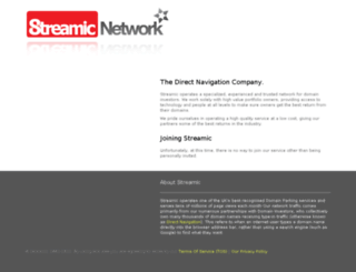 site.streamic.com screenshot