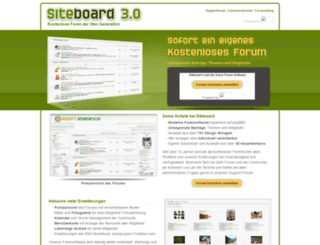 siteboard.de screenshot