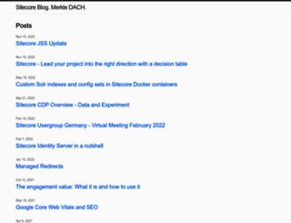 sitecore.namics.com screenshot