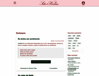 sitedepoesias.com.br screenshot