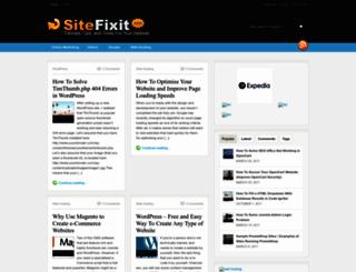 sitefixit.com screenshot